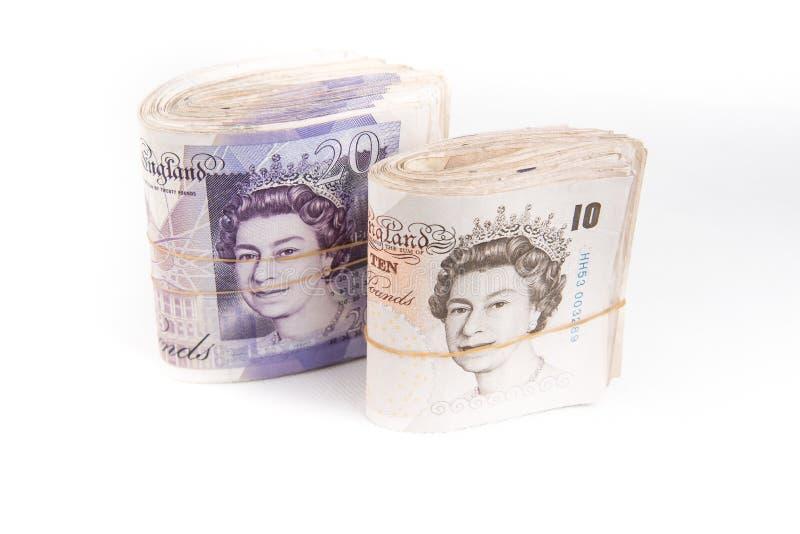 Britse pondbankbiljetten royalty-vrije stock foto