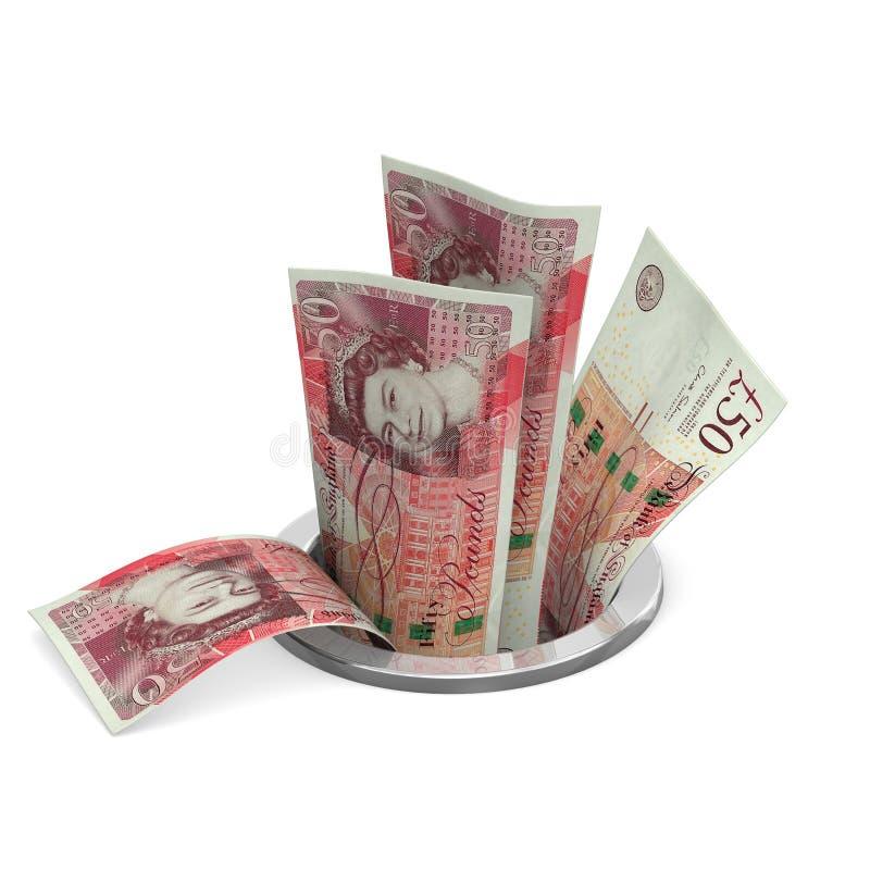 Britse ponden aan afvoerkanaal stock foto's