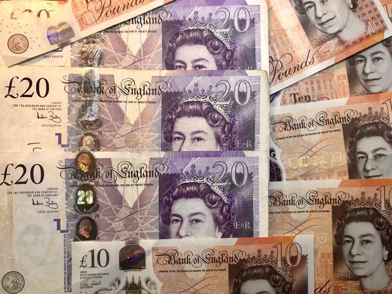 Britse Ponden als achtergrond royalty-vrije stock fotografie