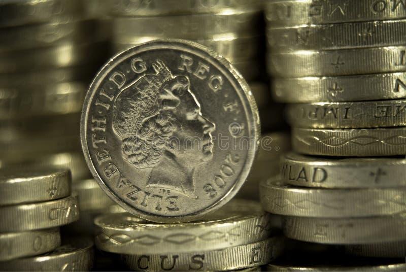 Britse Ponden muntstukken royalty-vrije stock afbeelding