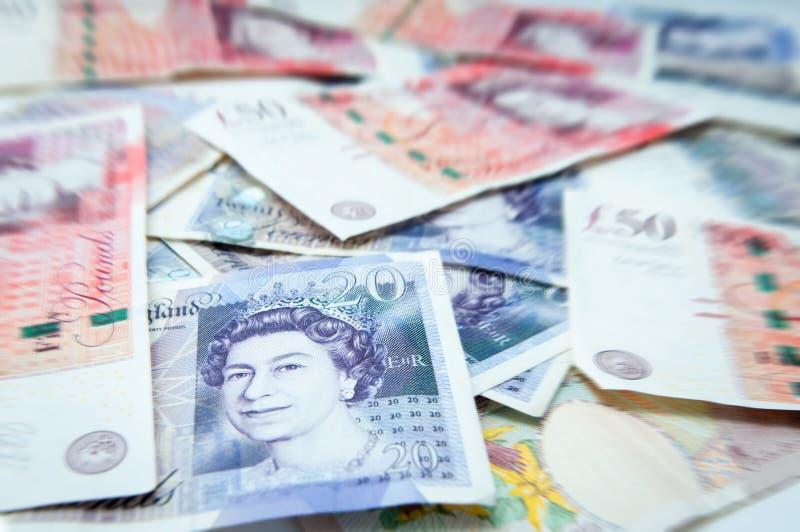 Britse ponden stapel stock foto