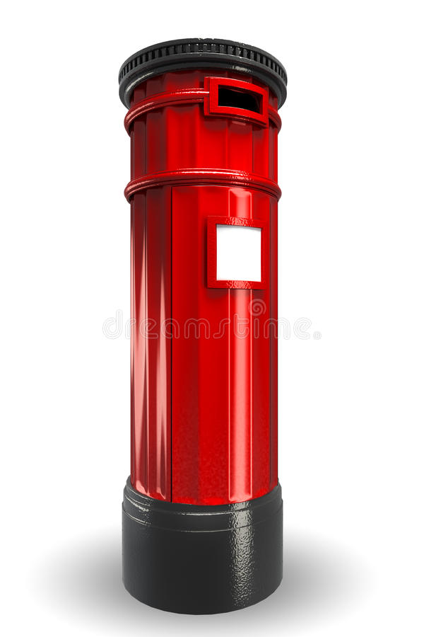 Britse PostDoos stock illustratie