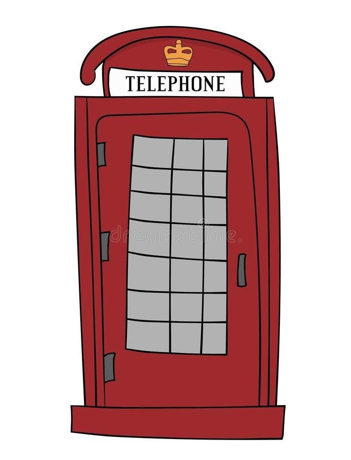 Britse Rode telefooncel stock fotografie