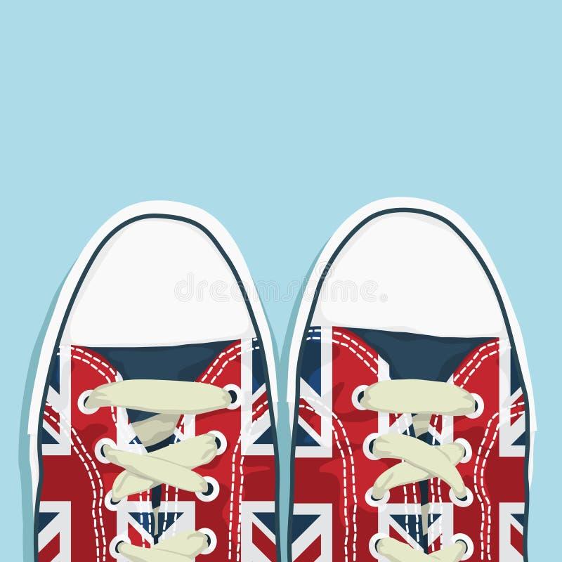 Britse schoenen vector illustratie