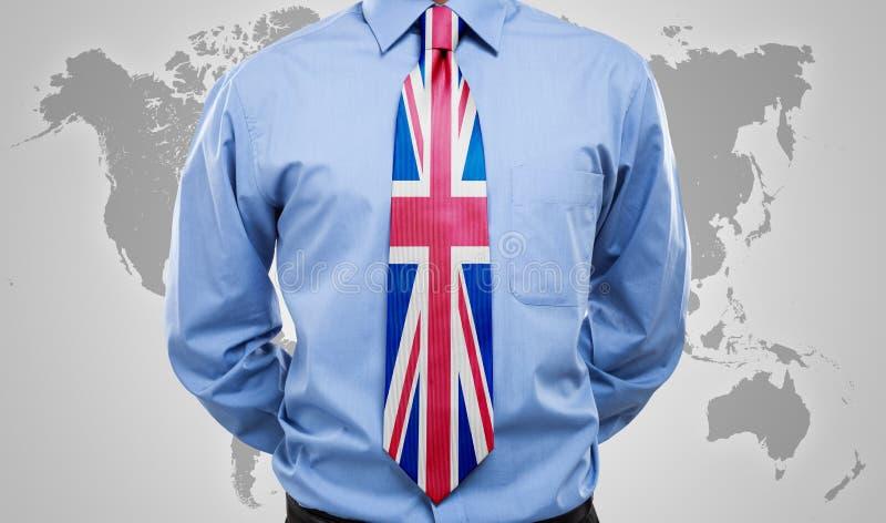 Britse stropdas royalty-vrije stock afbeeldingen