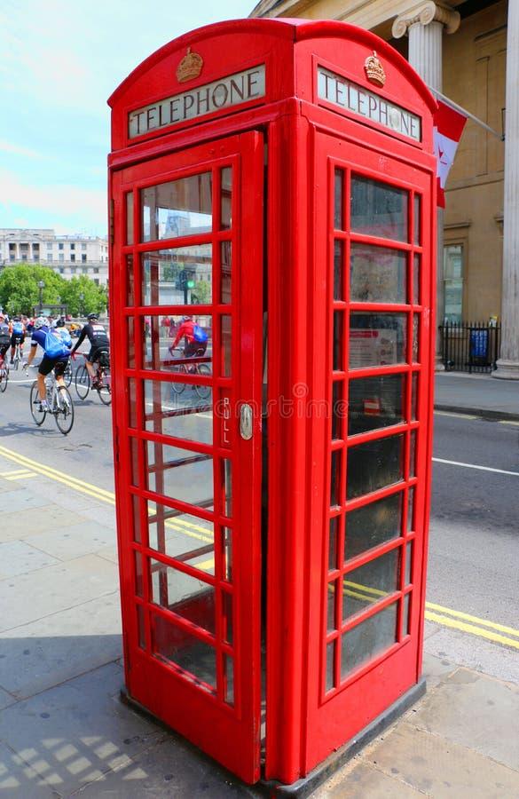 Britse Telefooncel in Londen, het Verenigd Koninkrijk stock fotografie