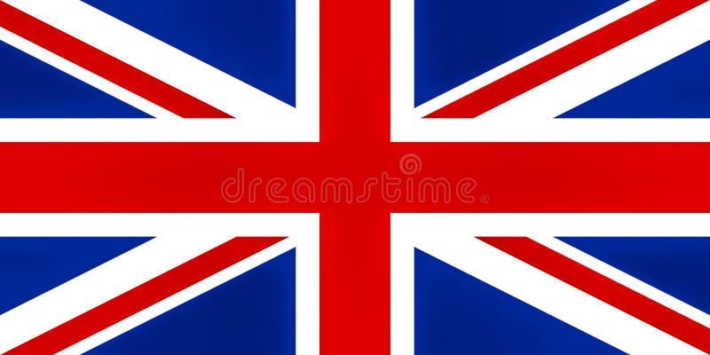 Britse texturised Vlag, stock illustratie