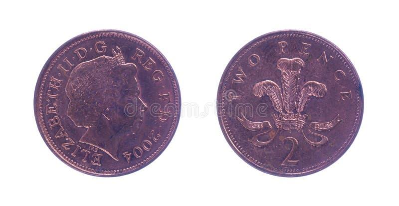 Britse twee pence royalty-vrije stock fotografie