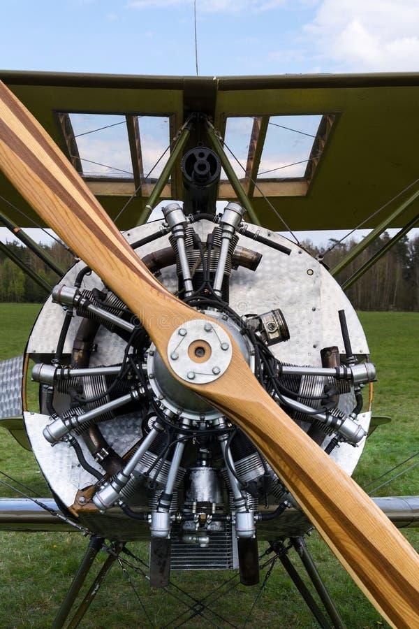 Britse tweedekkervliegtuigen van de Eerste replica van Wereldoorlogsopwith Strutter royalty-vrije stock afbeelding