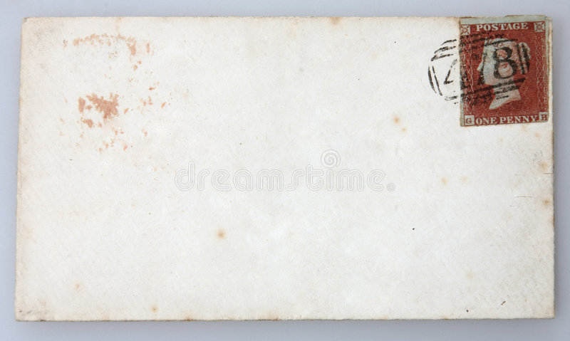 Britse Victoriaanse envelop royalty-vrije stock foto's