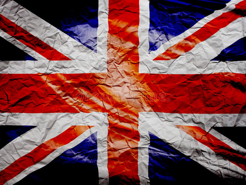 Britse vlag grunge op papier royalty-vrije stock foto