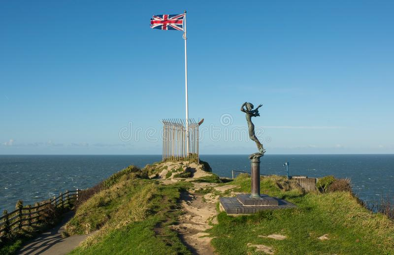 Britse vlag in Ilfracombe, Devon, Engeland royalty-vrije stock afbeeldingen