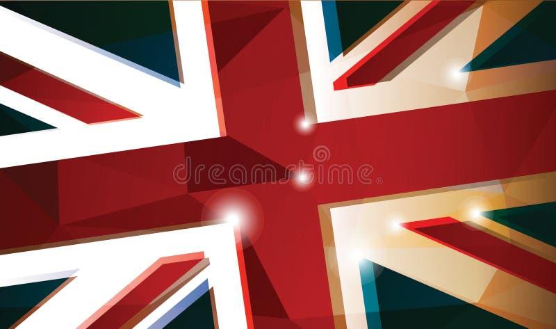 Britse vlagachtergrond royalty-vrije illustratie