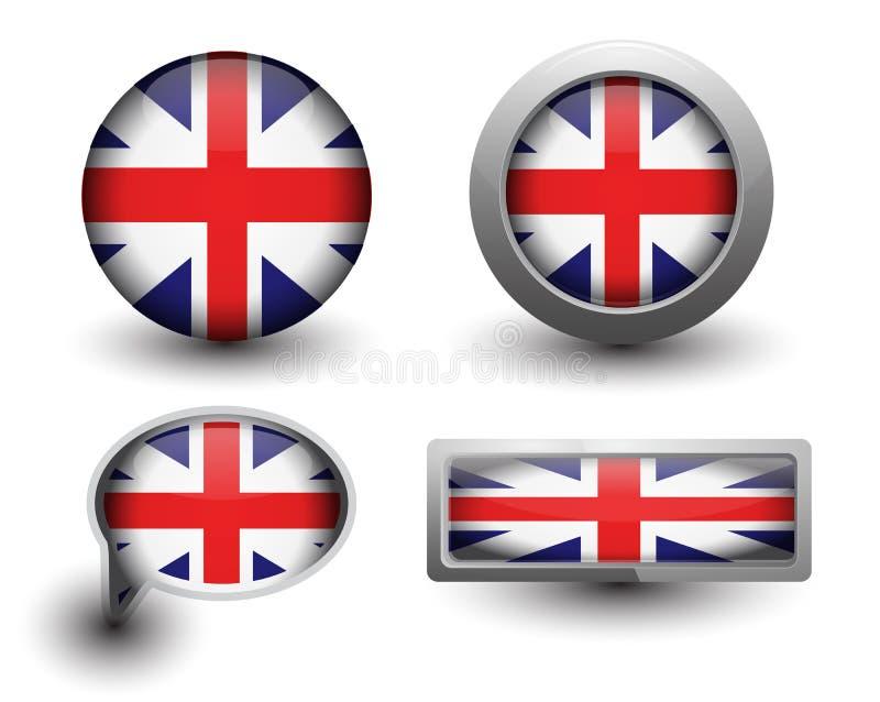 Britse vlagpictogrammen vector illustratie