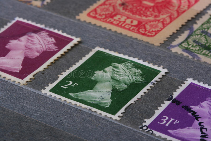 Britse Zegels royalty-vrije stock afbeelding