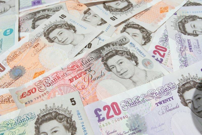 britsh货币注意镑 免版税库存照片