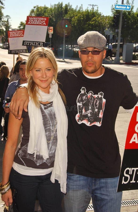 Brittany Daniel, Coby Bell foto de stock royalty free