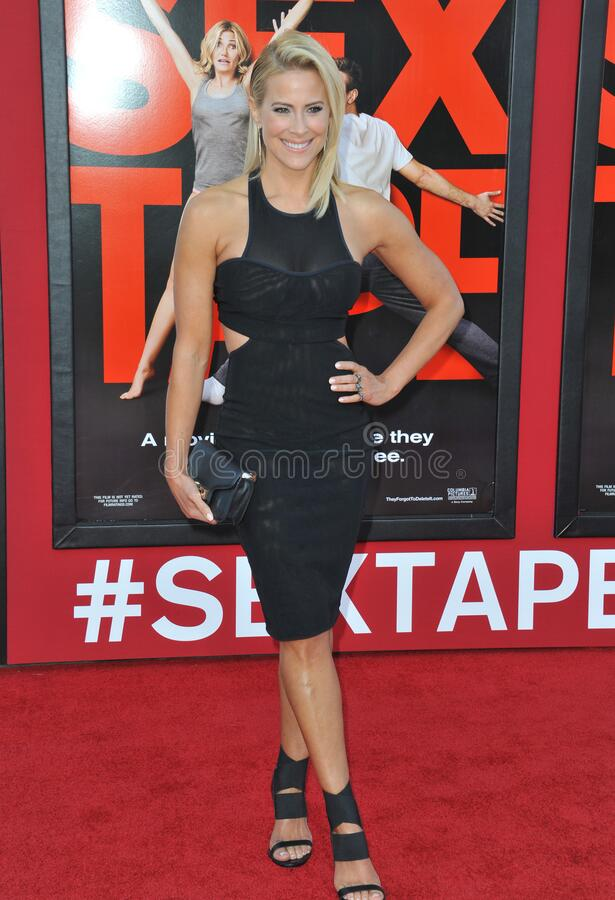 Brittany Daniel. LOS ANGELES, CA - JULY 10, 2014: Brittany Daniel at the world premiere of \'Sex Tape\' at the Regency Village Theatre, Westwood royalty free stock image