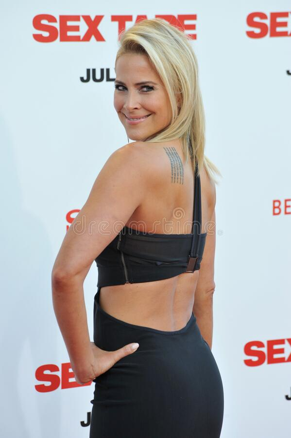 Brittany Daniel. LOS ANGELES, CA - JULY 10, 2014: Brittany Daniel at the world premiere of \'Sex Tape\' at the Regency Village Theatre, Westwood royalty free stock images