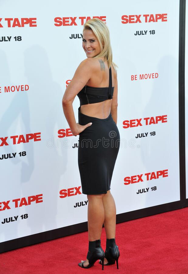 Brittany Daniel. LOS ANGELES, CA - JULY 10, 2014: Brittany Daniel at the world premiere of \'Sex Tape\' at the Regency Village Theatre, Westwood stock photography