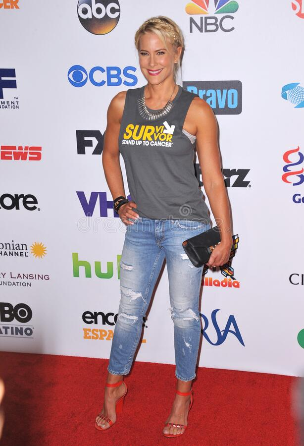 Brittany Daniel. LOS ANGELES, CA - SEPTEMBER 5, 2014: Brittany Daniel at the 2014 Stand Up To Cancer Gala at the Dolby Theatre, Hollywood royalty free stock photos