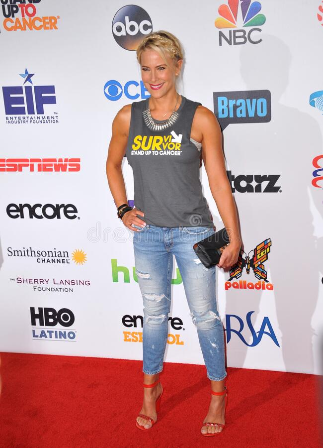 Brittany Daniel. LOS ANGELES, CA - SEPTEMBER 5, 2014: Brittany Daniel at the 2014 Stand Up To Cancer Gala at the Dolby Theatre, Hollywood royalty free stock photography