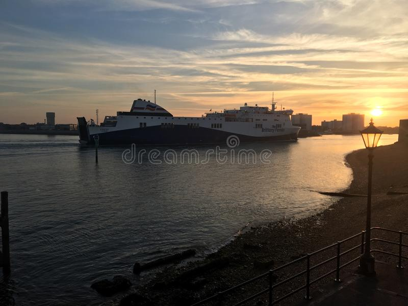 Brittany Ferry images stock