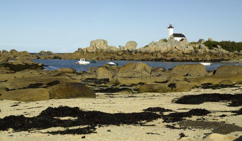 Brittany, Finistere: linea costiera di Kersaint fotografia stock