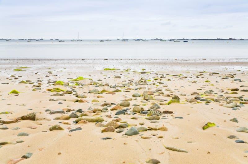 brittany korytkowy anglików piaska seacoast fotografia stock
