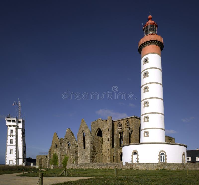 Brittany : phare de Mathieu de saint images libres de droits