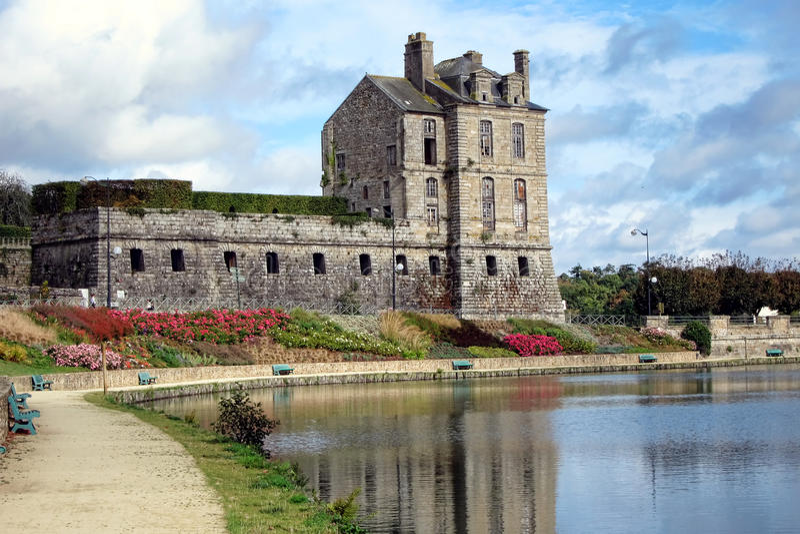 brittany quintin grodowy historyczny France zdjęcie stock
