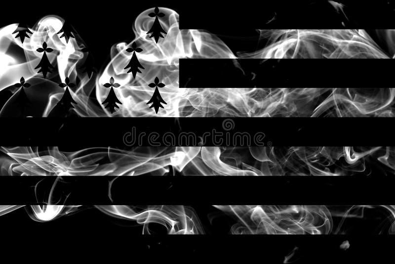 Brittany rökflagga, beroende territoriumflagga arkivbilder