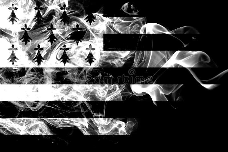 Brittany rökflagga, beroende territoriumflagga vektor illustrationer