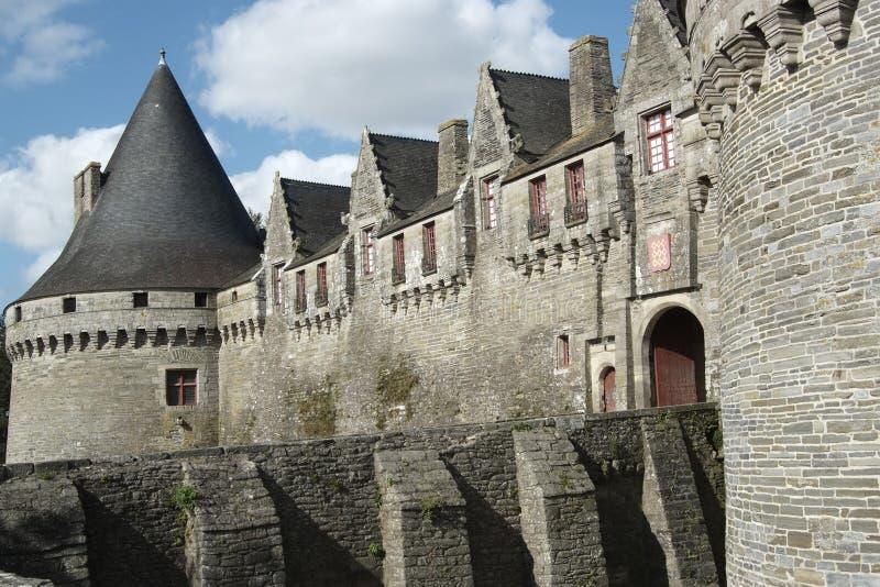 brittany slott pontivy france royaltyfri bild