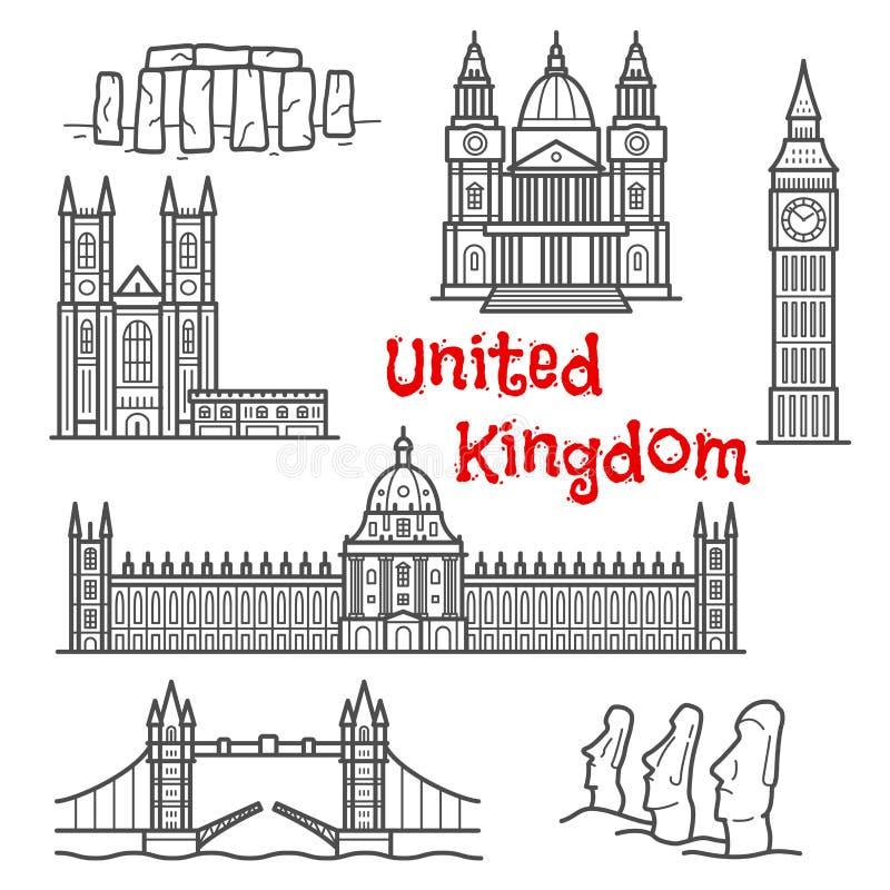 Britten och chilenska loppgränsmärken skissar vektor illustrationer