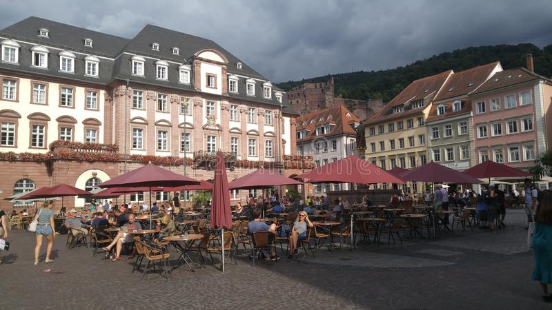 Britten shoppar Heidelberg royaltyfria foton