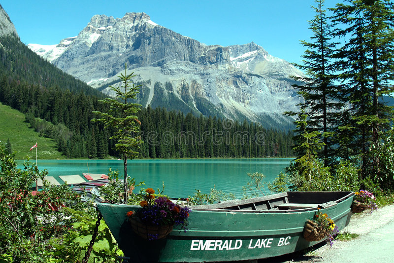 brittisk columbia emeral lake vancouver arkivbild