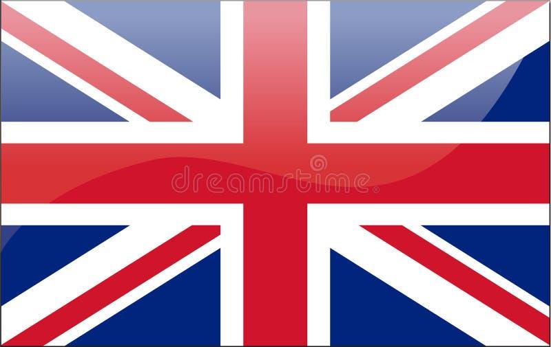brittisk flagga royaltyfri illustrationer