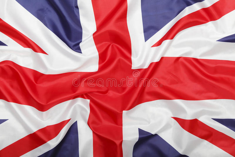 Brittisk flaggabakgrund royaltyfri fotografi