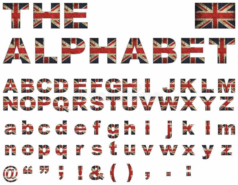 brittisk flaggastilsort vektor illustrationer
