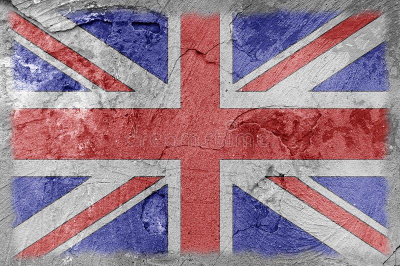 Brittisk flaggaväggtextur arkivbilder
