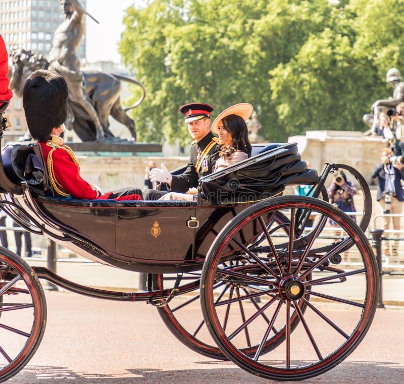 Brittisk kungafamiljen arkivfoto