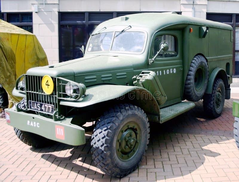 Brittisk lastbil för armé för världskrig 2 royaltyfri fotografi
