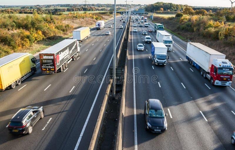 Brittisk motorway arkivfoto
