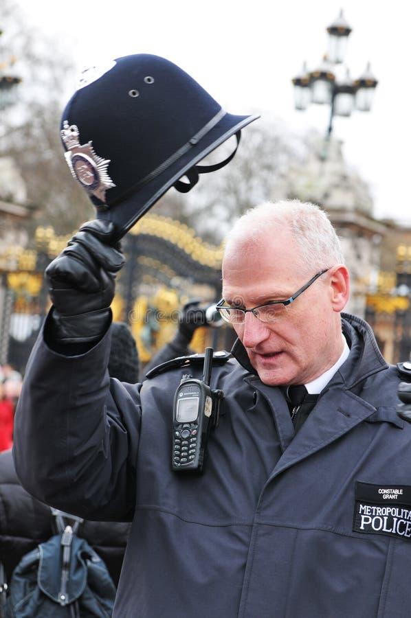 brittisk polis royaltyfri fotografi