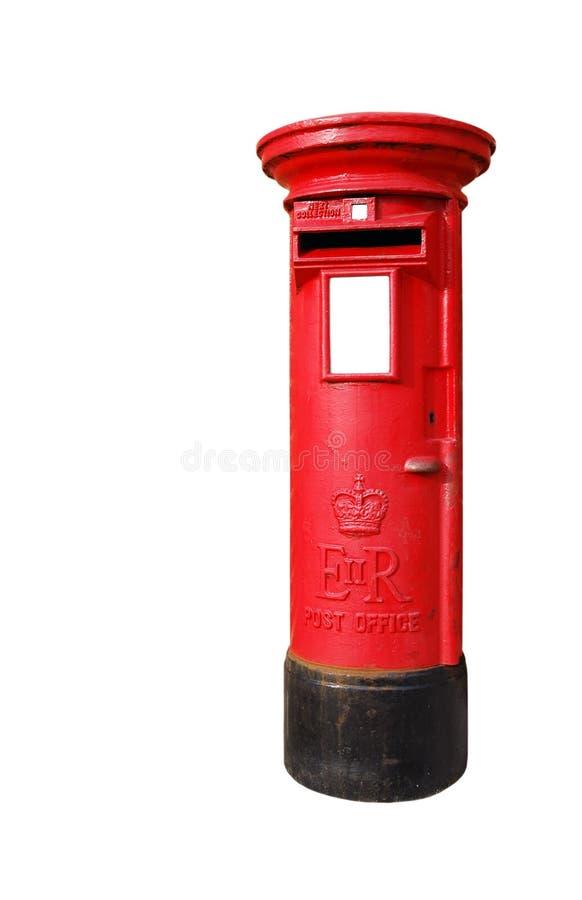 brittisk postbox arkivbild
