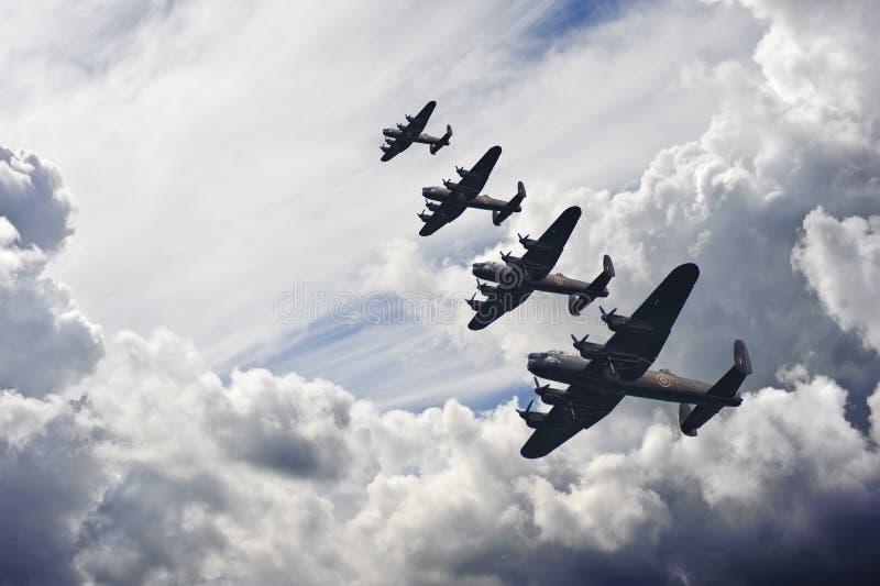 brittisk tappning för flygbildande två kriger världen royaltyfri fotografi