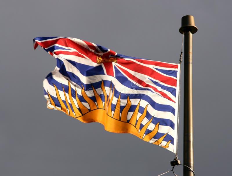 brittiska columbia flagga royaltyfri fotografi
