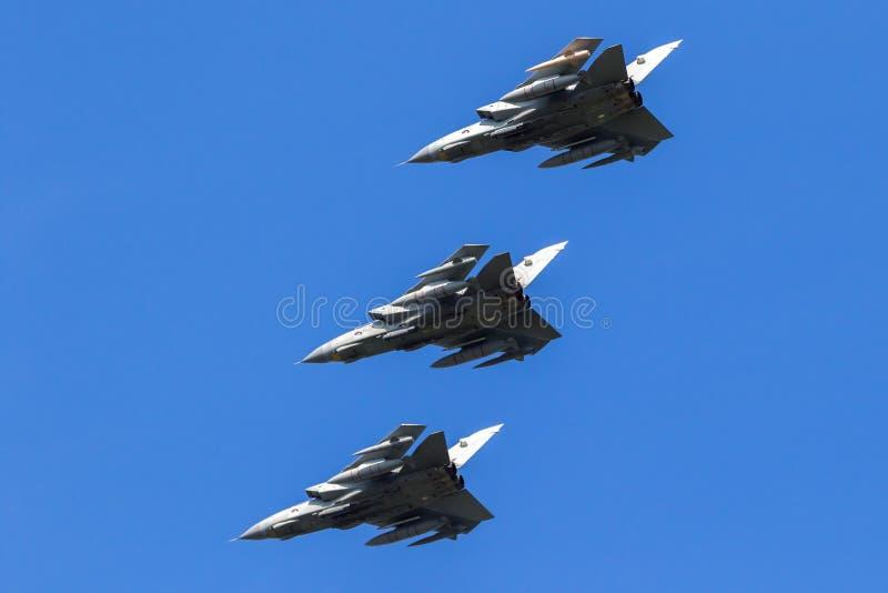 Brittiska jetar för bombplan för Royal Air Force tromb GR-4 arkivbild