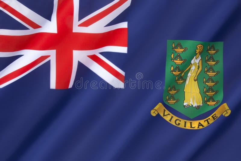 brittiska jungfruliga flaggaöar arkivbild